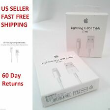 ORIGINALE Apple iPhone 6/5 / 5S / 5C Lightning Caricabatterie USB Cavo dati (OEM)