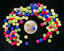 Primary Colors Mix Tiny Doll Buttons, 2 hole, 400+, WHOLESALE!