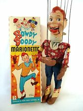"""Howdy Doody-1950's 17"""" Composition Marionette with box-Peter Puppet Playthings"""
