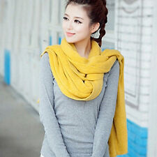 8color Women's Winter Warm Hand Knitting Soft Shawl Cowl Wrap Crochet Long Scarf
