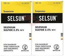 2 x 120 ml SELSUN Anti Dandruff Shampoo TREATMENT SELENIUM SULFIDE