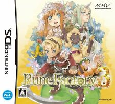 Used Nintendo DS Rune Factory 3 Japan Import (Free Shipping)