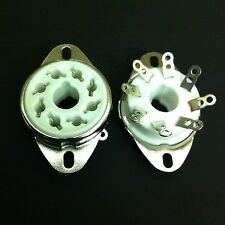 8 Pin Octal Fixed Chassis Mount  Split  Hole  Ceramic SKT. For KT88, 6550, etc.