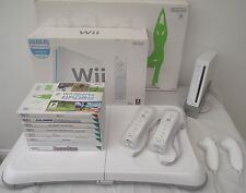 Wii CONSOLE+Wii FIT BOXED+67 GAMES INCLUDING A FREE  YEARS WARRANTY