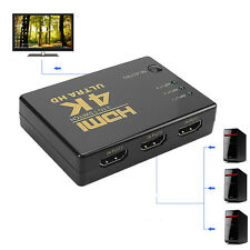 1080P 4Kx2K 3 in 1 Out HDMI Switch Hub Splitter TV Switcher Ultra HD for HDTV PC