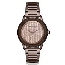 Michael Kors MK6245 Kinley Brown Crystal Pave Crystal Glitz Wrist Watch FreeShip