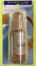Maybelline Dream Liquid Mousse Foundation NATURAL BEIGE =75 (MEDIUM 2.5 ) Carded