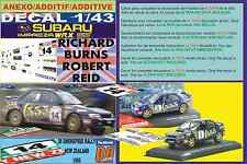 ANEXO DECAL 1/43 SUBARU IMPREZA 555 R.BURNS R.NEW ZEALAND 1995 DnF (03)