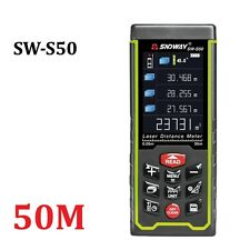 New SW-S50 Color display Rechargeable 50m Laser distance meter Rangefinder Tape