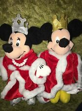 Disney King Mickey and Queen Minnie Mouse Beanie Bean Bag New Best Guest