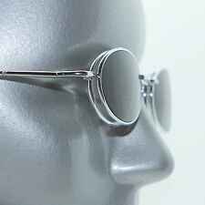 Small Lens Clip On Tint Sunglasses Reading Glasses +1.75 Silver  Metal Frame