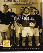 PUBLICITE  2000   FABERGE  BRUT   ILS ONT LA TROUILLE eau de toilette