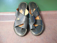 """WOMENS """"BORN"""" GREEN LEATHER TOE SANDALS-US SIZE 9M-EUR 40.5-GOOD USED CONDITION"""