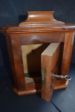 Antique Church Offering Donation Wooden Box with Key