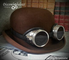 Steampunk / Dieselpunk Black and Silver  Goggles **Hat not included**