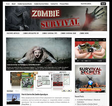 * ZOMBIE SURVIVAL * blog website business for sale w/ Daily AUTO CONTENT