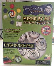 NEW CRAZY AARON'S MIXED BY ME GLOW IN THE DARK THINKING PUTTY KIT