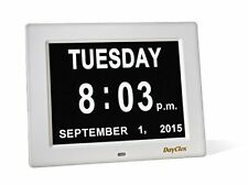 BIG LETTERS & NUMBERS Memory Loss Digital Calendar Day Clock Day Month Year NEW