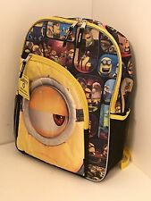 "Minions Backpack Kids 16"" New"