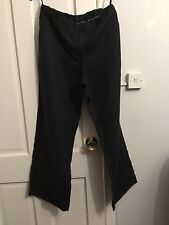 ladies BODEN 100% LINEN TROUSERS 18L black used