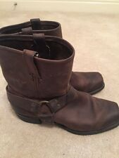 Frye Men's Buckle Harness Brown Boot Size 13
