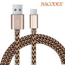 Nacodex USB 3.1 Braided Type-C Cable Data Charging USB-C to USB-A 3FT(1m) Golden