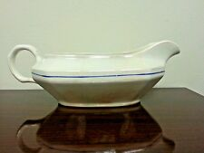 Edwin M. Knowles China Co Vitreous Gravy Boat Style# 23 3 9  Blue line gold trim