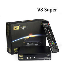 GENUINE V8 Super Satellite TV Receivers 1080P Full HD DVB-S2 Upgrade Recorder UK