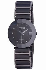 Jowissa Women's J5.214.XL Pyramid Black PVD  Steel Black Ceramic Bracelet Watch