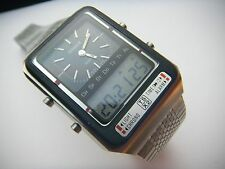 VINTAGE TISSOT DUAL ANALOG DIGITAL TS-X2 MENS WATCH ALARM CHRONOGRAPH MINT