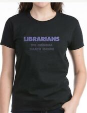 New! Womens Librarians The Original Search Engine T-shirt Size LARGE Hanes