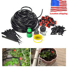 25m DIY Micro Drip Irrigation System Flow Plant Self Watering Garden Hose Kits