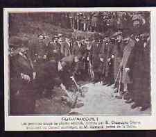 1919  --  CLIGNANCOURT  PREMIER COUP PIOCHE DSTR° ZONE