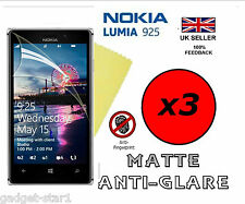 3x HQ MATTE ANTI GLARE SCREEN PROTECTOR COVER LCD FILM GUARD NOKIA LUMIA 925