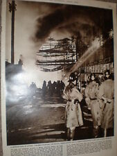 Photo article fire at Harrison Gibson department store Ilford Essex 1959