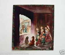 # I 515- RARE Vintage Unused Tasha Tudor Xmas Greeting Card Nativity Scene