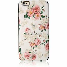 Floral Pattern Flip Wallet Card Holder Case Window View Cover For iPhone 6 Plus