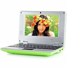 """BRAND NEW 7"""" NETBOOK MINI LAPTOP WIFI ANDROID 4GB NOTEBOOK PC UK STOCK GREEN"""