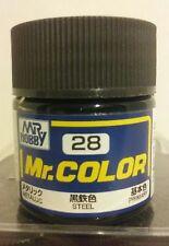 """Gunze Sangyo C-28 """"Mr Color"""" acrylic paint, Steel."""