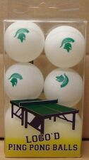 MICHIGAN STATE SPARTANS TEAM LOGO 6-PACK PING PONG BEER PONG BALLS BRAND NEW
