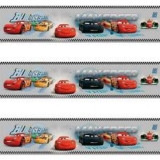 GALERIE OFFICIAL DISNEY CARS LIGHTNING MCQUEEN CHILDRENS WALLPAPER BORDER GREY