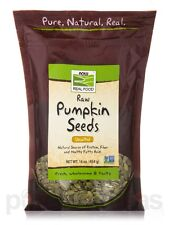 NOW Real Food - Raw Pumpkin Seeds, Unsalted - 16 oz (454 Grams) by NOW