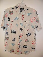 "VOLCOM Men's S/S Button-Up Shirt ""Hoot"" - SIB - Size Large - NWT - Reg $70"