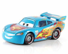 Rare Disney Pixar Cars2  Blue Lightning McQUEEN Car Metal Kid 1:55 Toy Loose