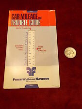 LOT #25 OF 25, OLD VTG FIDELITY FEDERAL SAVINGS & LOAN CAR MILEAGE TROUBLE GUIDE