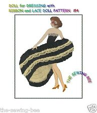 RIBBON and LACE DOLLS vintage paper doll pattern