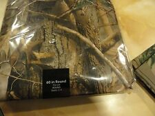 "New Peva vinyl Tablecloth 52"" x 90"" Rustic CAMO~Camouflage Realtree~ oblong"