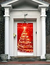Christmas Front Door Cover Entry Holiday Doors Banner Decor Outdoor House ON17