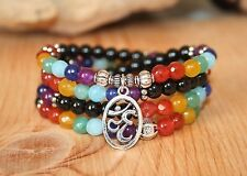 108 Chakra Ohm Healing Mala Beads Bracelet Necklace- Meditation Zen Yoga Jewelry