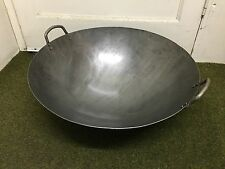 New Steel Wok With Two Handles For Commercial Ketchen 50cm Diameter